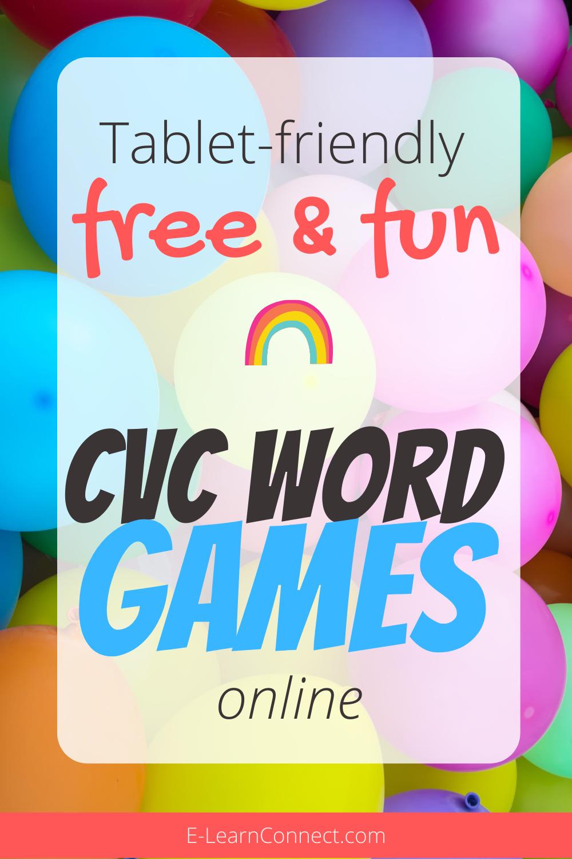 Tabletfriendly CVC word games online in 2020 Cvc word