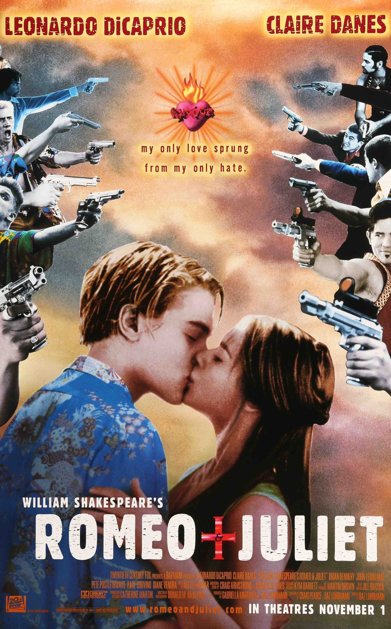 Romeo and Juliet (1996) Juliet movie, Romantic movies
