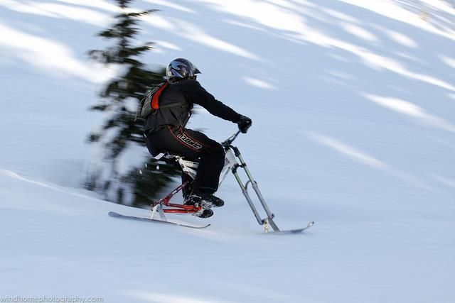 Ski Bike With Images Skibike Skiing Ski And Snowboard