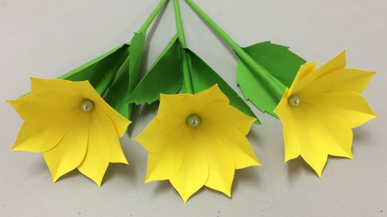 How To Make Beautiful Paper Flower Flowers Making Of Colored
