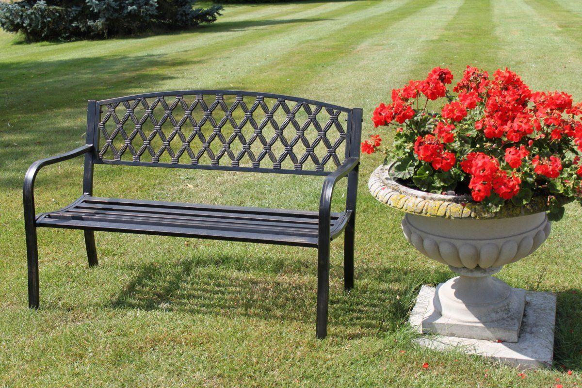 gartenbank aus metall metall gartenbank gartenbank. Black Bedroom Furniture Sets. Home Design Ideas