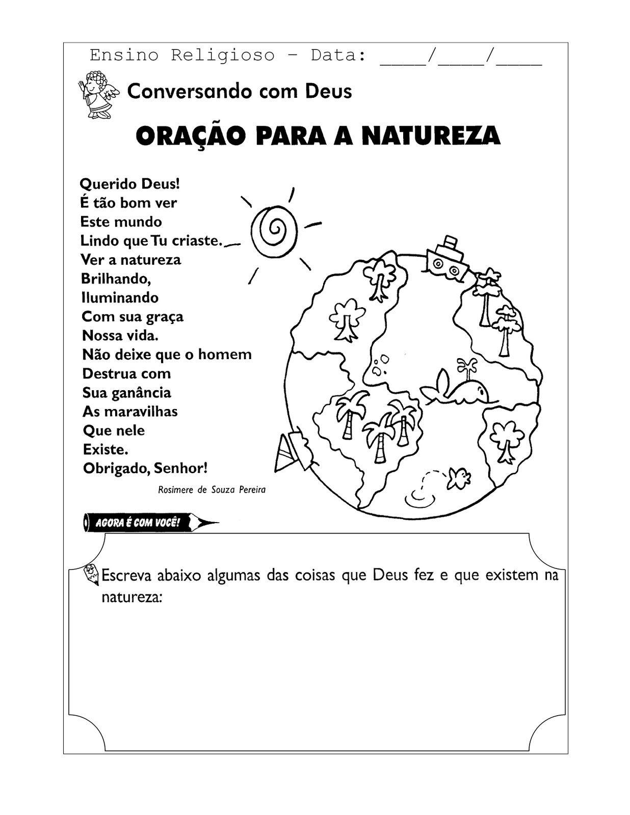 Rel Oracao Para A Natureza 0001 Jpg 1236 1600 Ensino Religioso