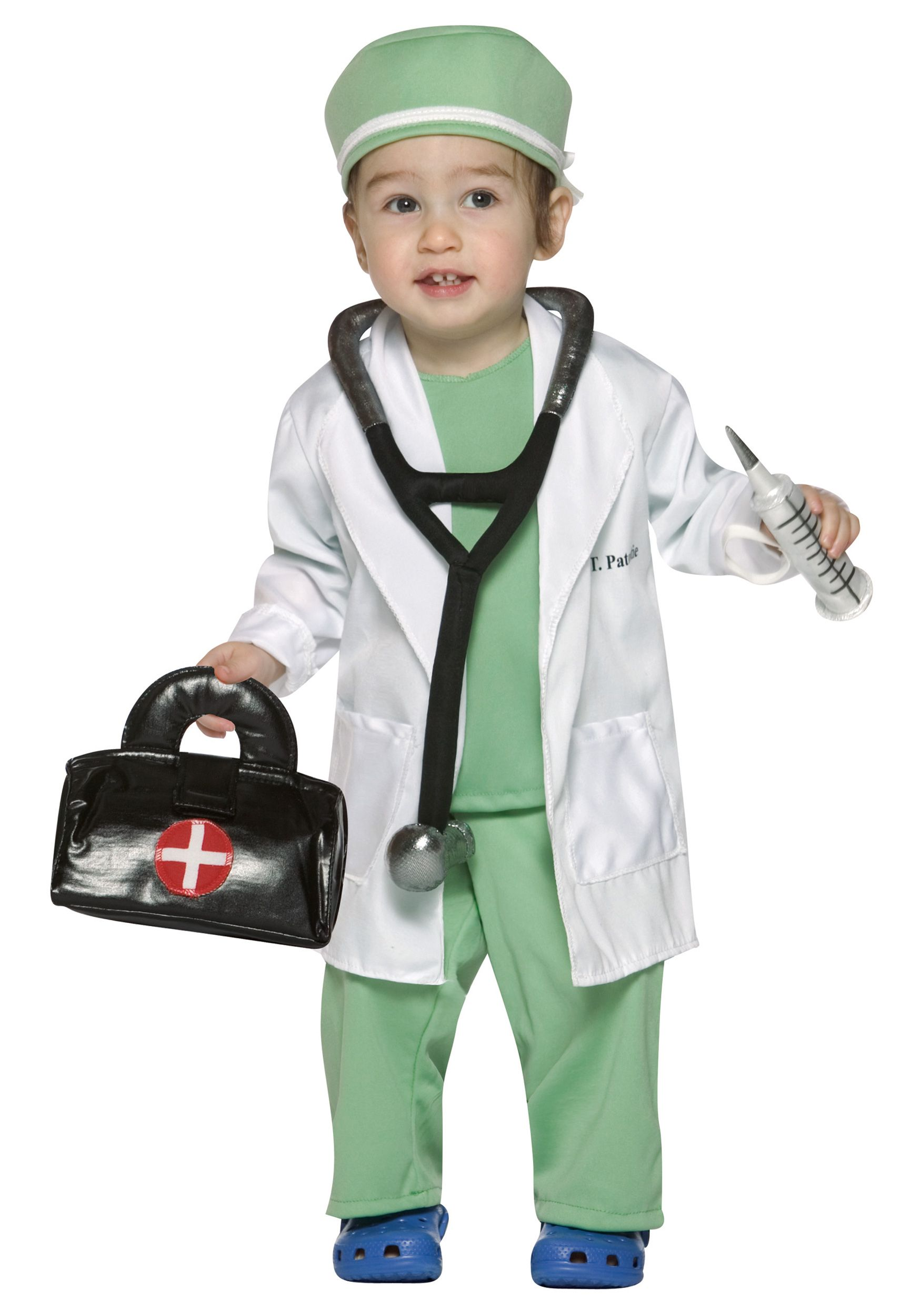 Child Doctor Costume Boys ER Hospital Surgeon Fancy Dress Scrubs Outfit New