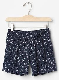 Floral knot bow soft shorts