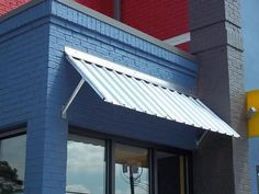 Sloped Metal Awnings Could Be Done With Corrugated Tin Or Copper Corrugated Metal Roof Corrugated Metal Window Awnings