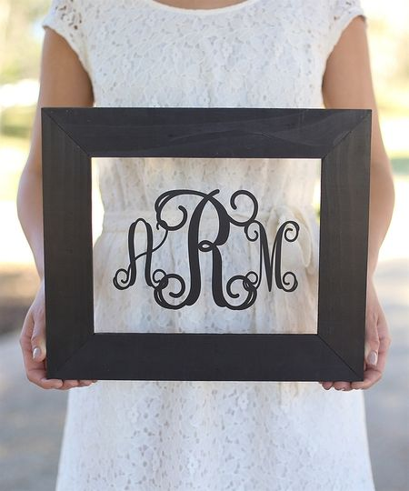 Monogram Personalized Wall Sign (GMHD1006D)