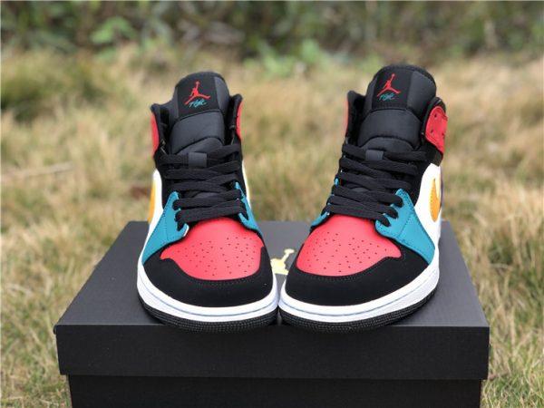 2019 Release Air Jordan 1 Mid Multi Color Men S Basketball Shoes