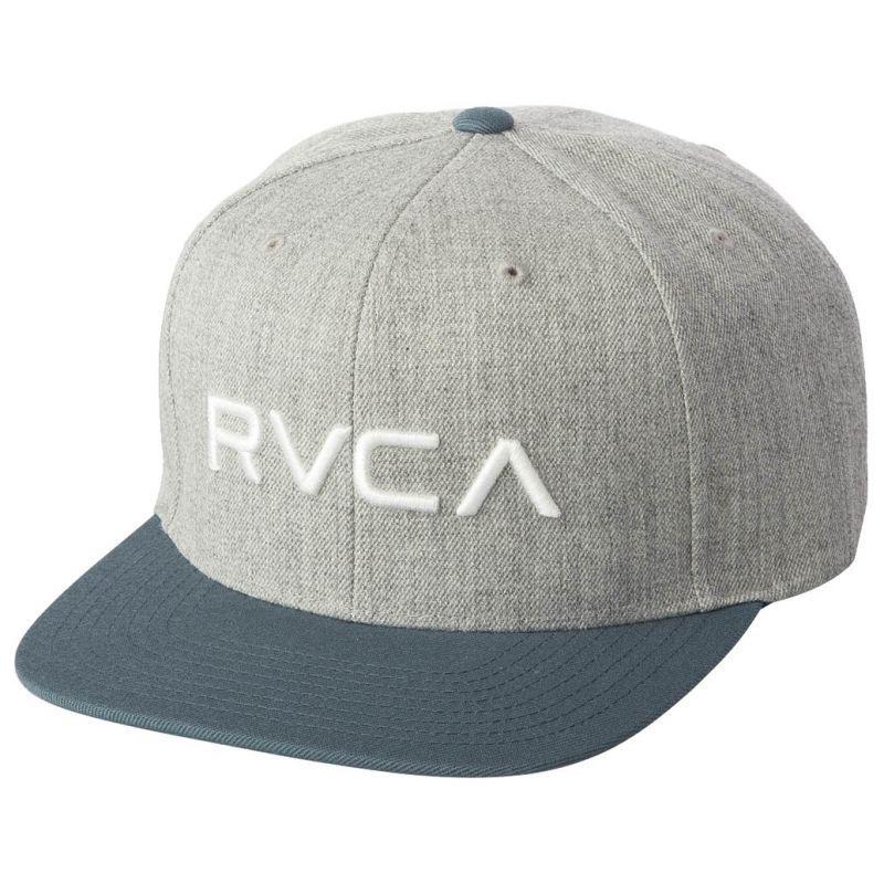 RVCA Twill Snapback III Hat Darck Charcoal Grey Snap Back Cap