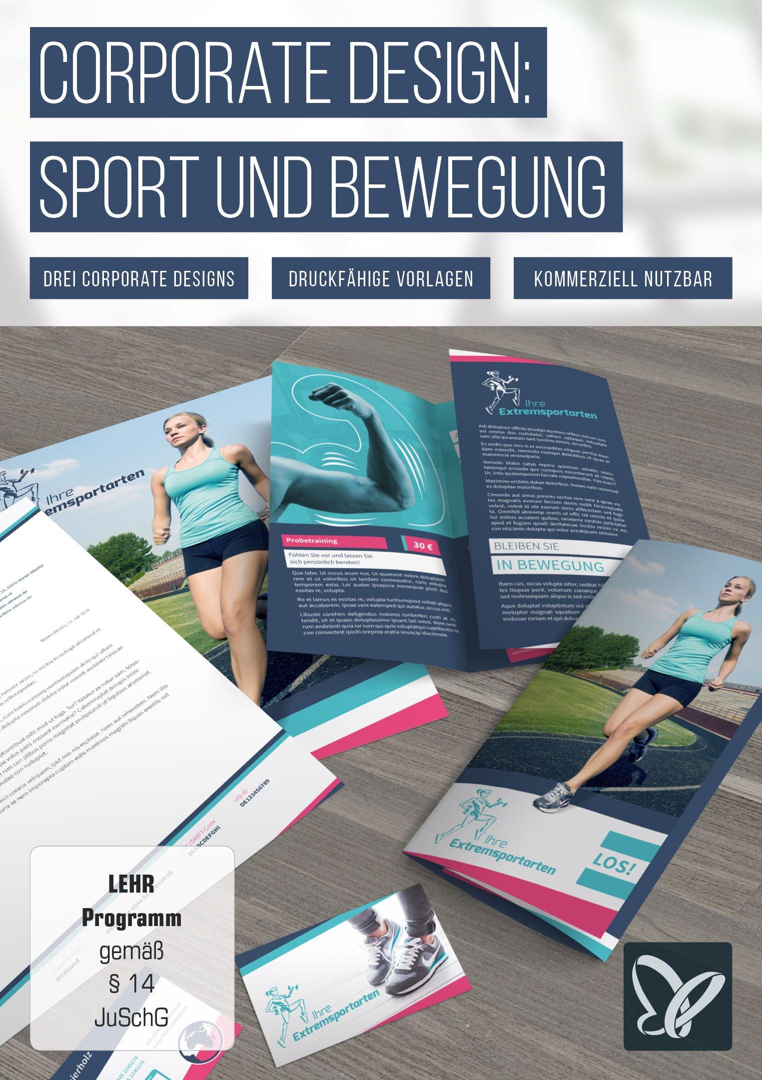 Vorlagen Für Sport Fitnessstudio Flyer Visitenkarten
