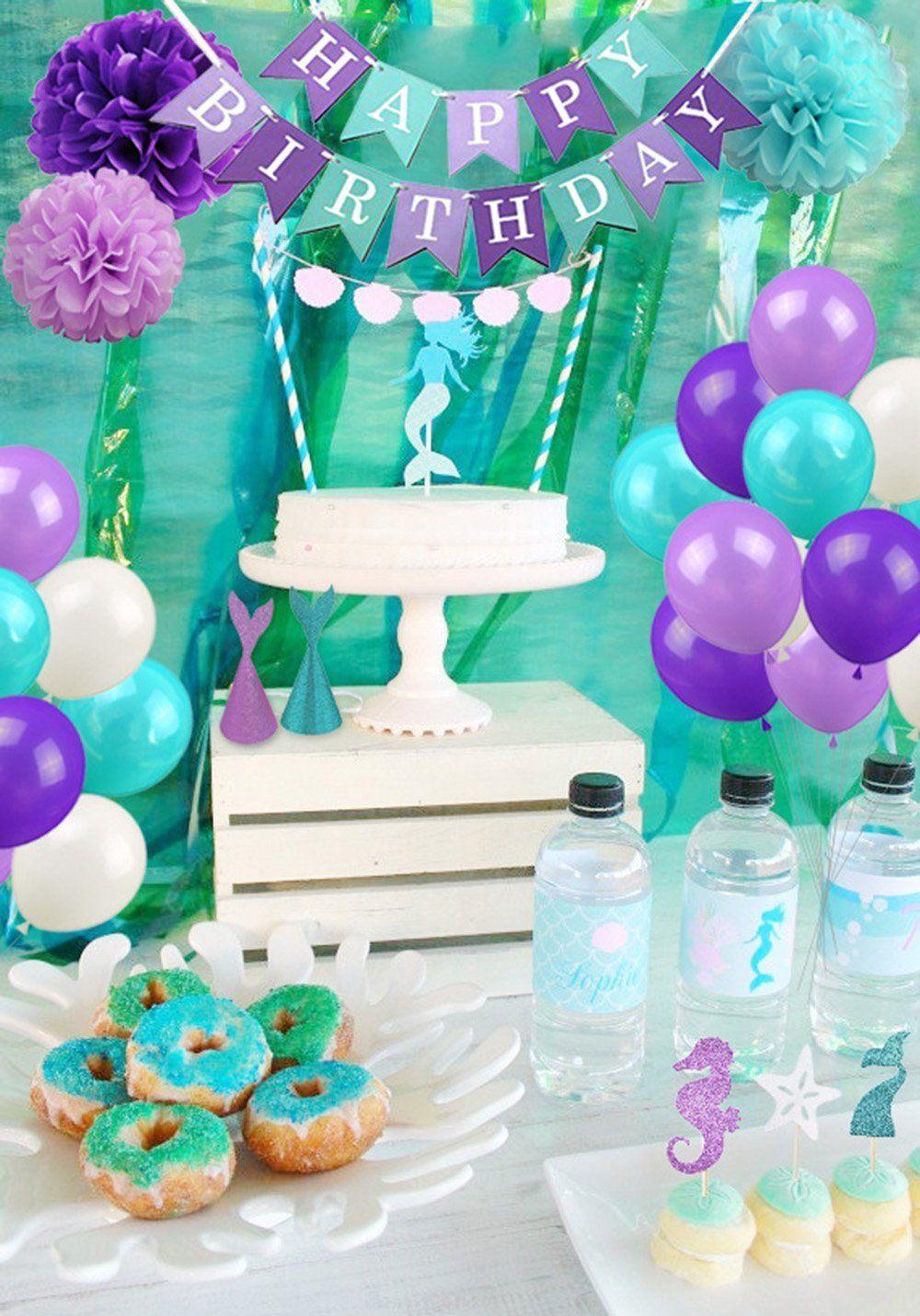 Mermaid Birthday Party Decorations Mermaid Baby Shower Under The