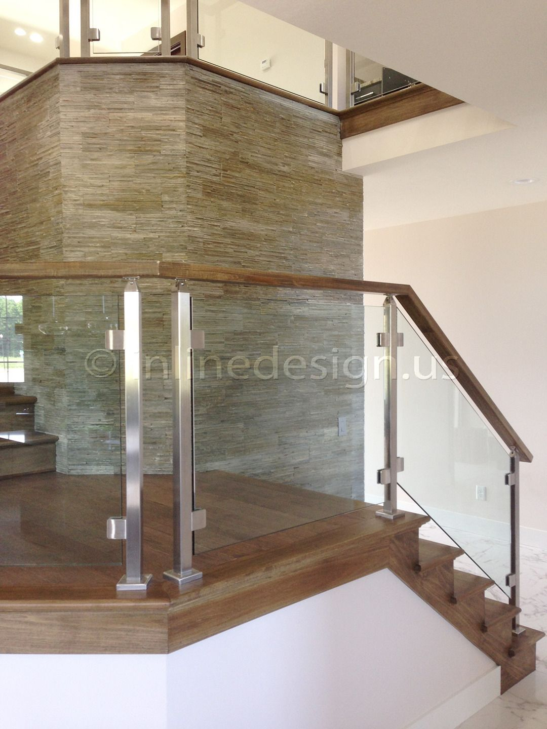 Best Single Stainless Steel Glass Railing Stairs Side For The 640 x 480