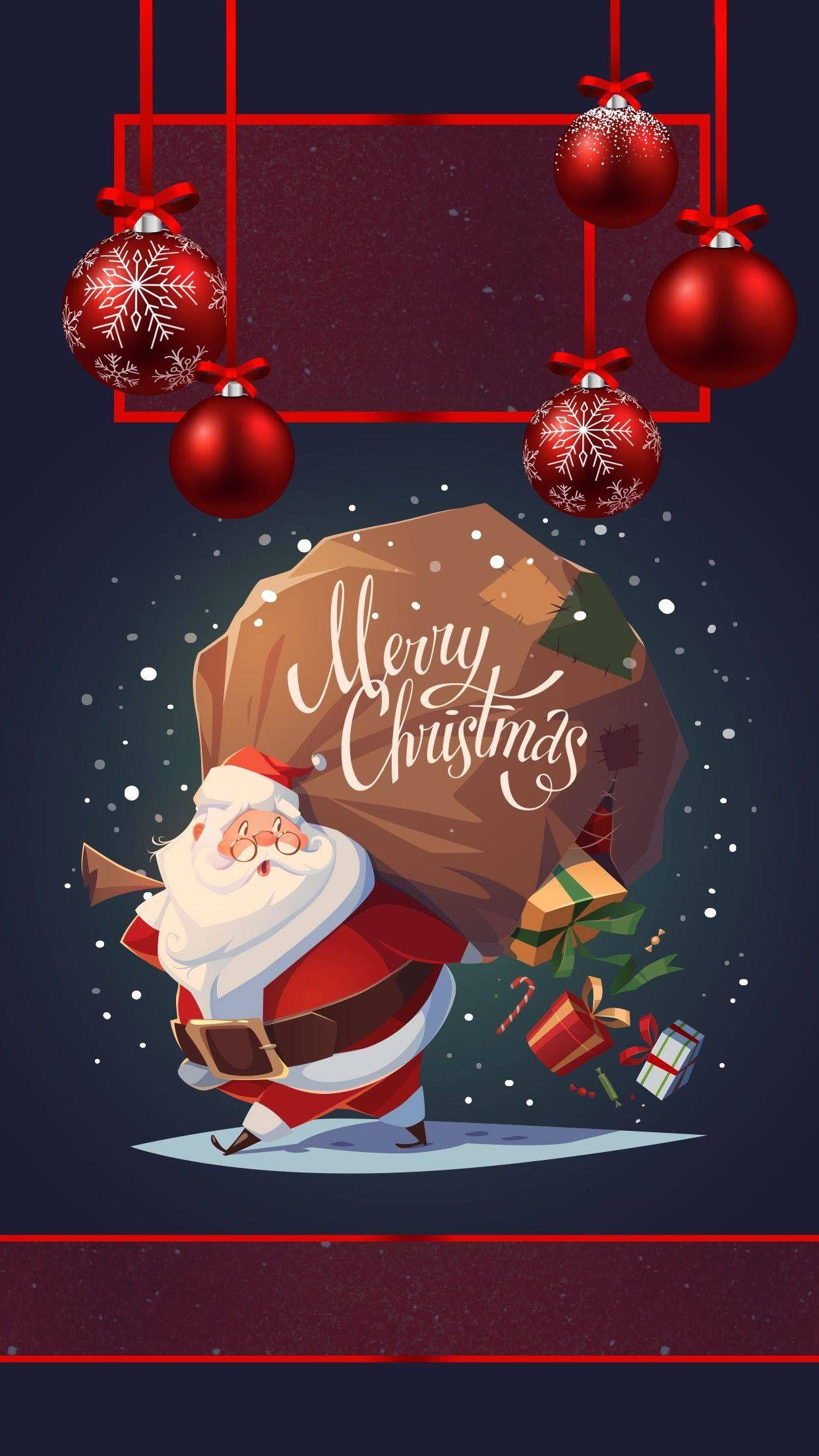 Merry Christmas Santa iPhone Wallpaper