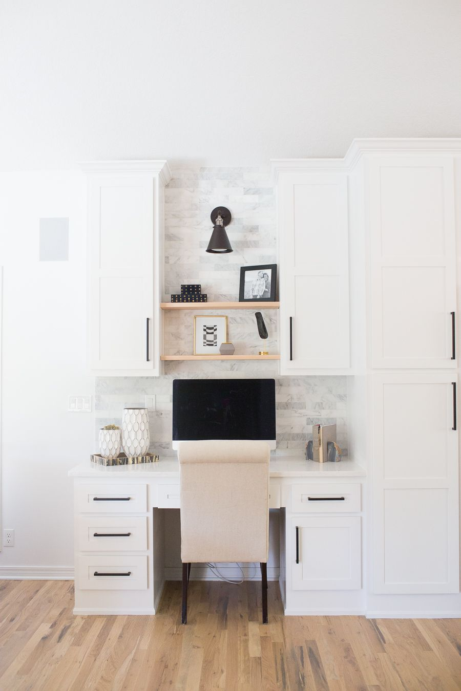 Cc And Mike Tulsa Remodel Reveal Cc And Mike Lifestyle And Design Blog Kitchen Desks Home Office Decor Kitchen Desk Areas