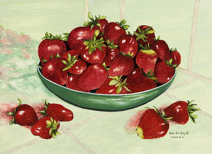 Strawberry Memories Painting by Mary Ann King - Strawberry Memories Fine Art Prints and Posters for Sale