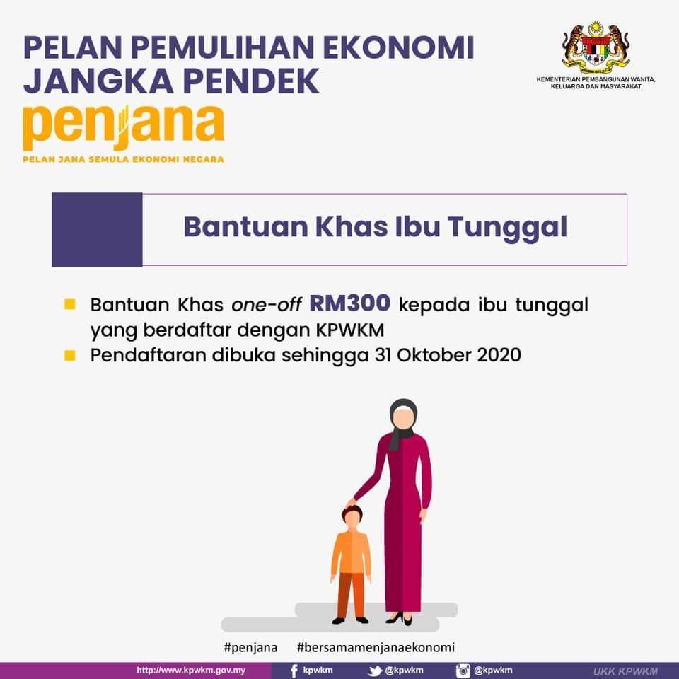 Permohonan Online Bantuan Ibu Tunggal One Off Rm300 Di 2020 Pemulihan