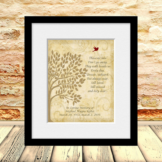 Memorial Gift, In Memory of Wall Print, Funeral Gift, Gift for Wake ...