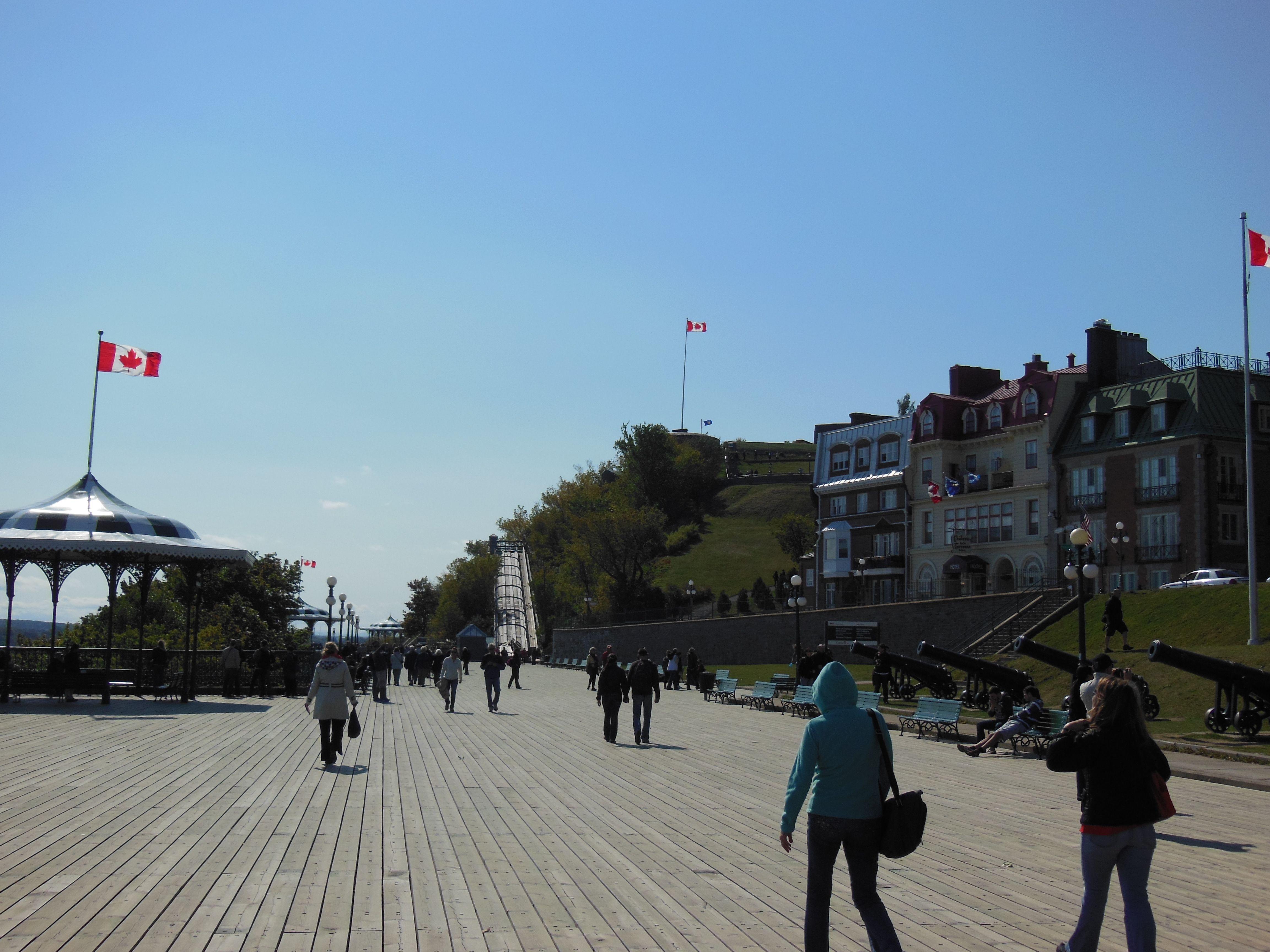 The boardwalk  Old Quebec