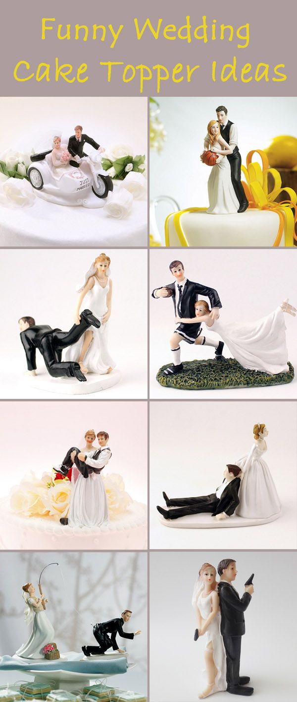 Different And Funny Wedding Gifts And Cake Toppers Wedding Humor