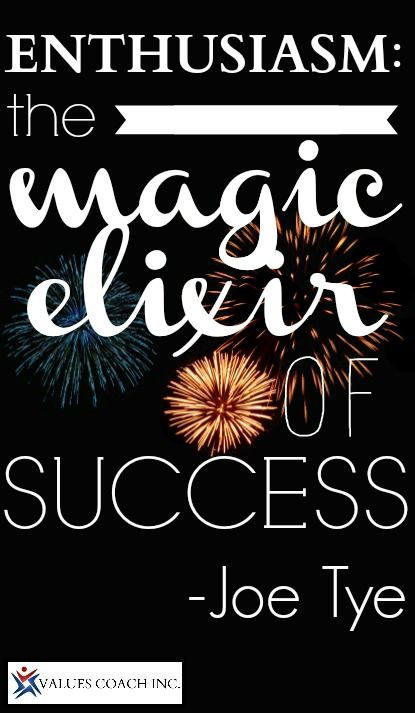 enthusiasm: the magic elixir of success.  Read the Spark Plug here: http://conta.cc/1cvr2CK