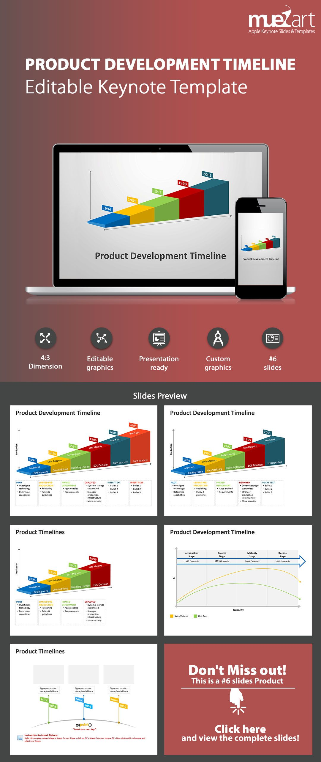 Product Development Timeline Keynote Template for iOS