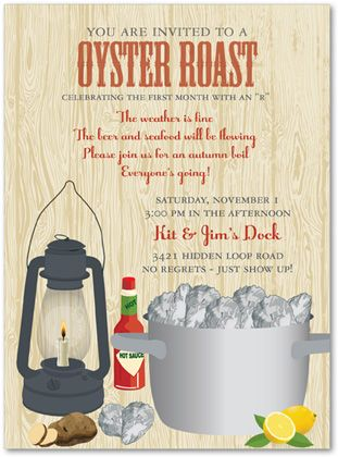 Oyster Roast Party Invitations It S A Party Pinterest