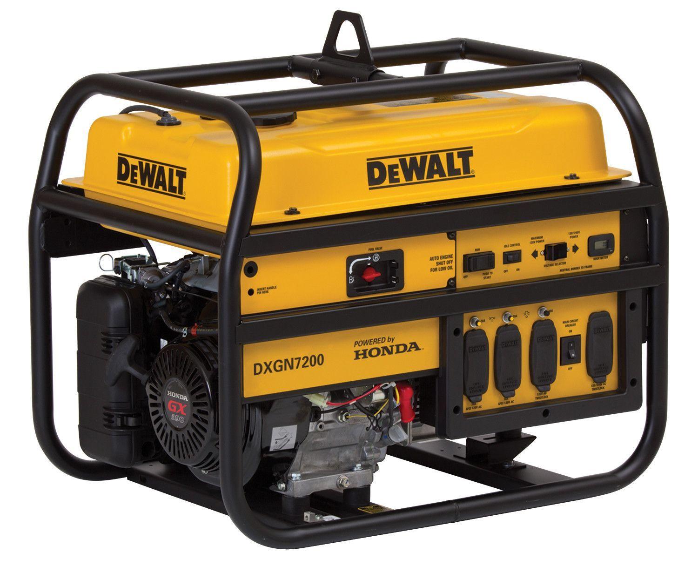 7 200 Watt Professional Generator With Honda Recoil Electric Start Portable Generator Power Generator Tools