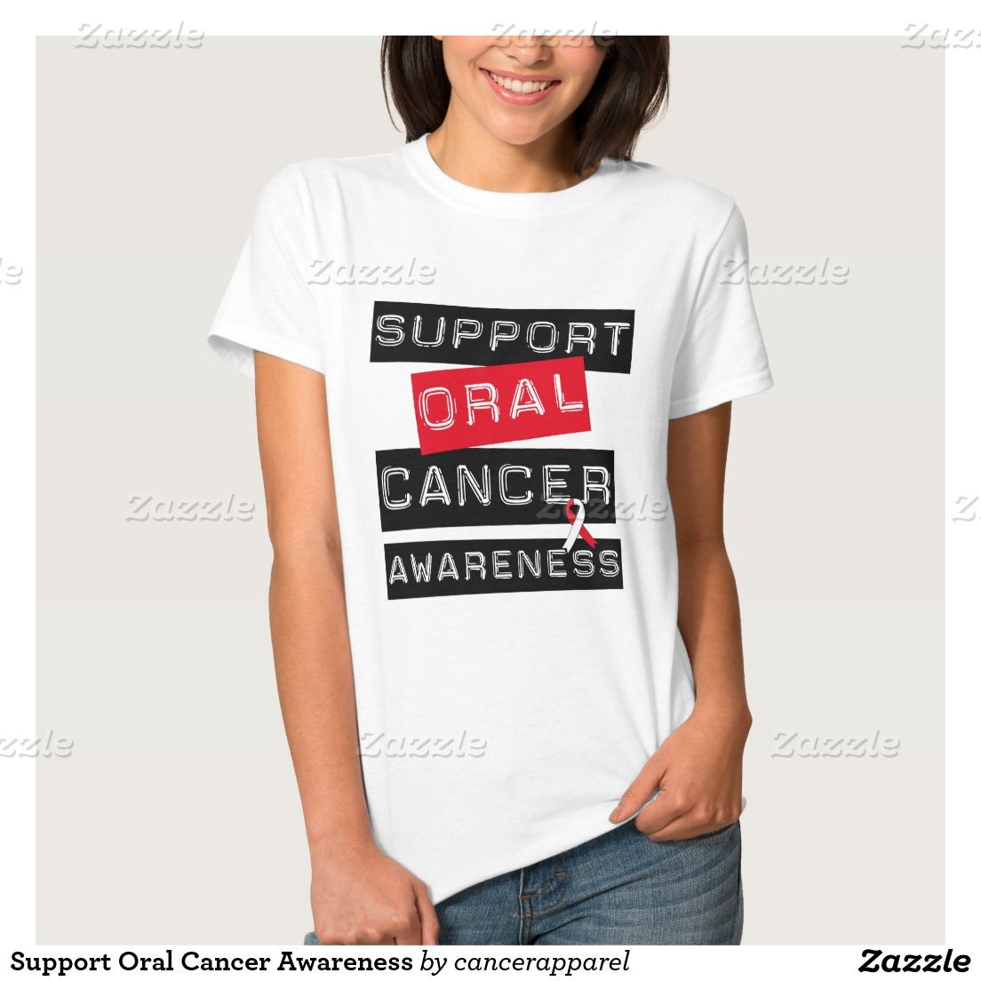 Support Oral Cancer Awareness Tees