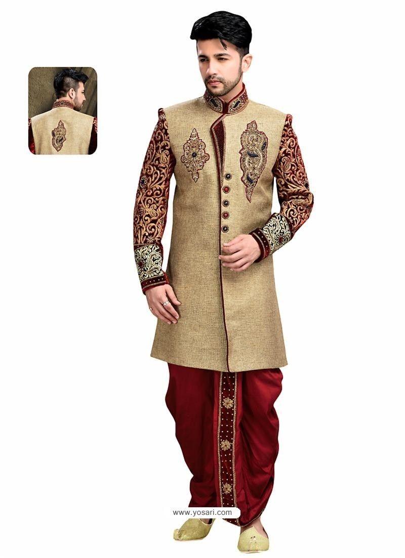 Scintillating brown wedding sherwani pinterest sherwani wedding
