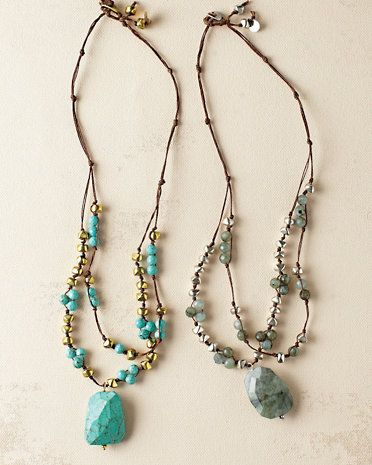 in2 design Hanna Stone Nugget Necklace Jewelry techniques Pinterest