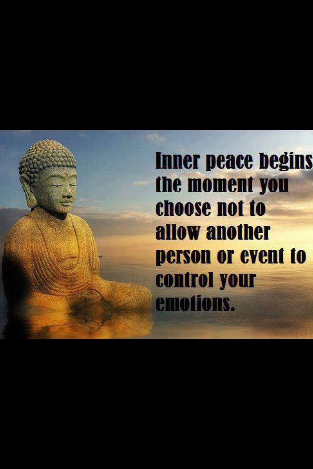 Inner Peace Begins The Moment You Choose Not To Allow Another Person