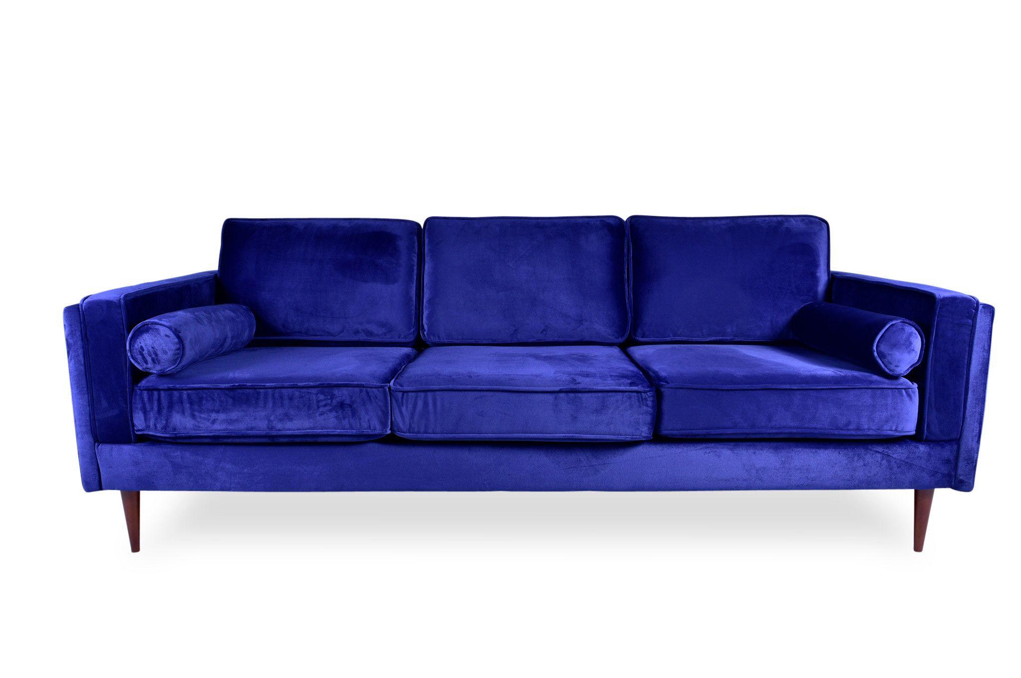 Marvelous Fordham Velvet Sofa Navy Blue Midinmod Velvet Sofa Machost Co Dining Chair Design Ideas Machostcouk