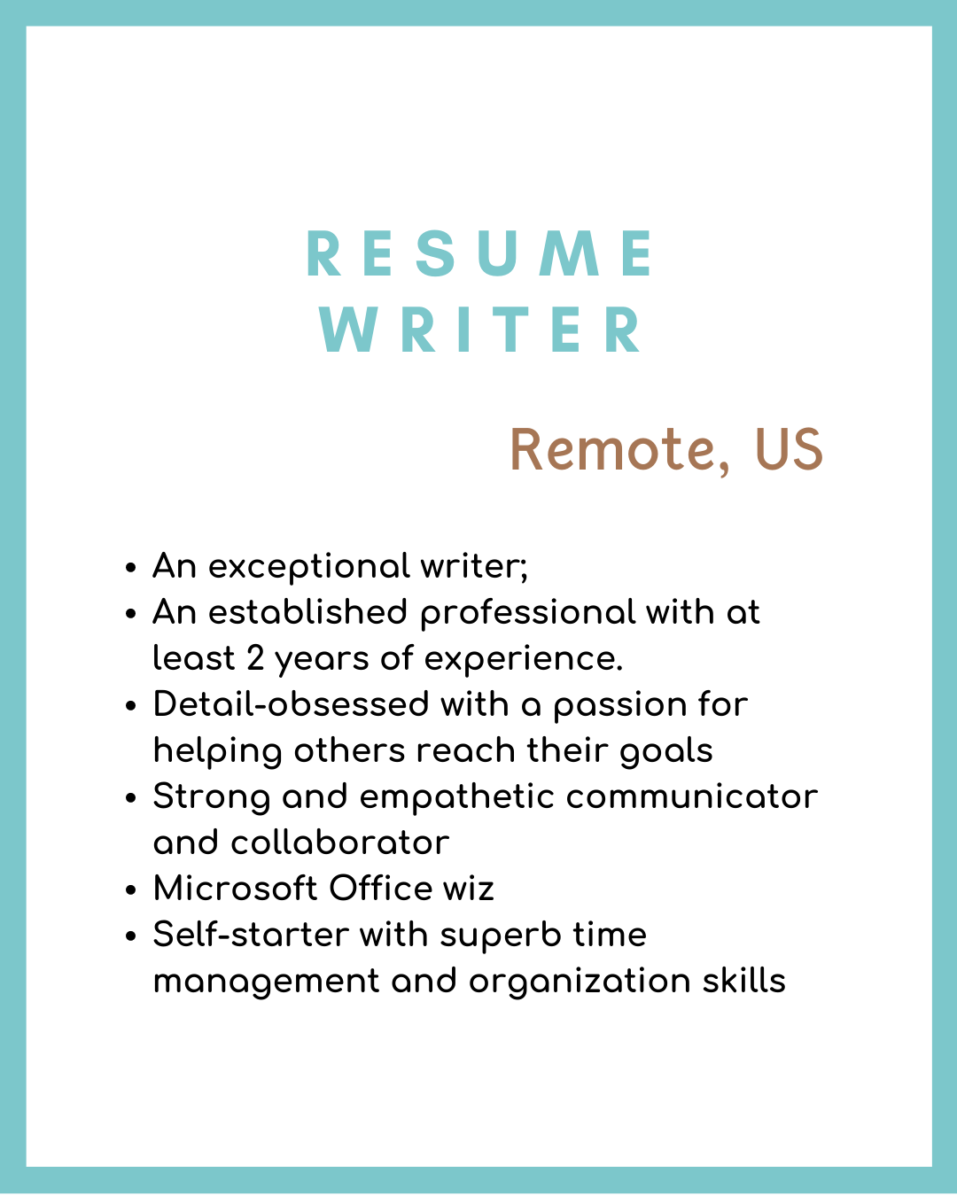 Resume Writer Remote Writing Jobs in 2020