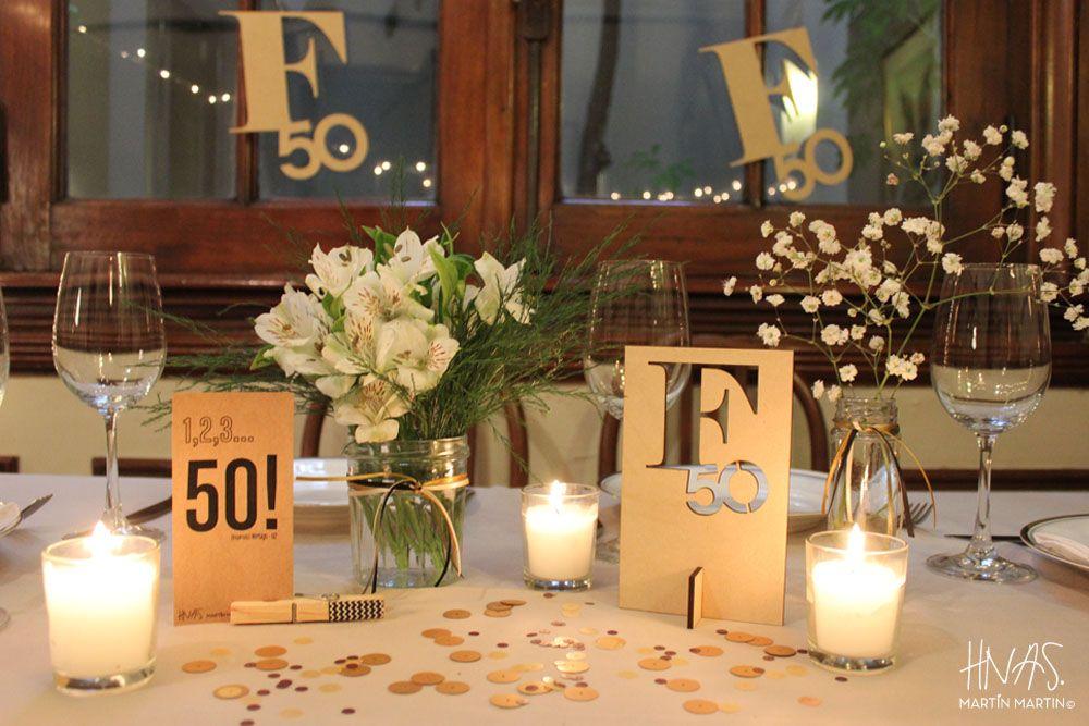 Centro de mesa 80 a os lala pinterest boda centros - Decoracion 50 cumpleanos ...