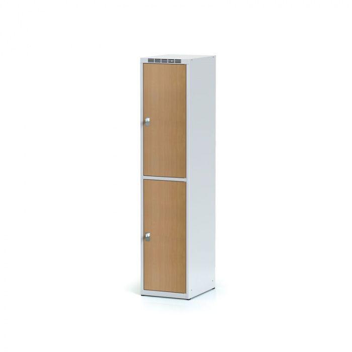 Wardrobe, 2 boxes 400 mm, laminated beech door, cylinders …
