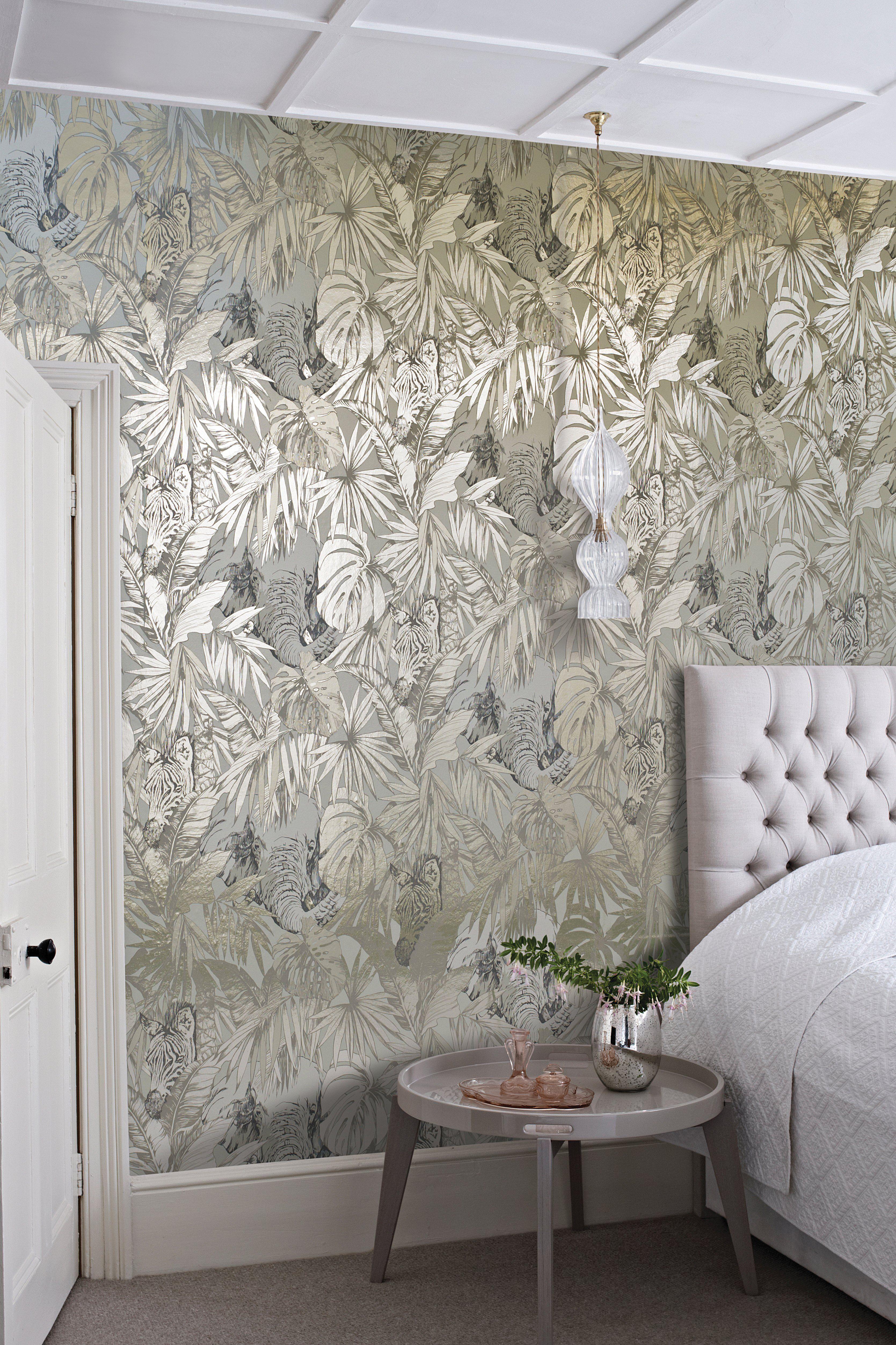 Fantasy Jungle Scenes Origin Collection Metallic Wallpaper Bathroom Wallpaper Trends Wallpaper Trends