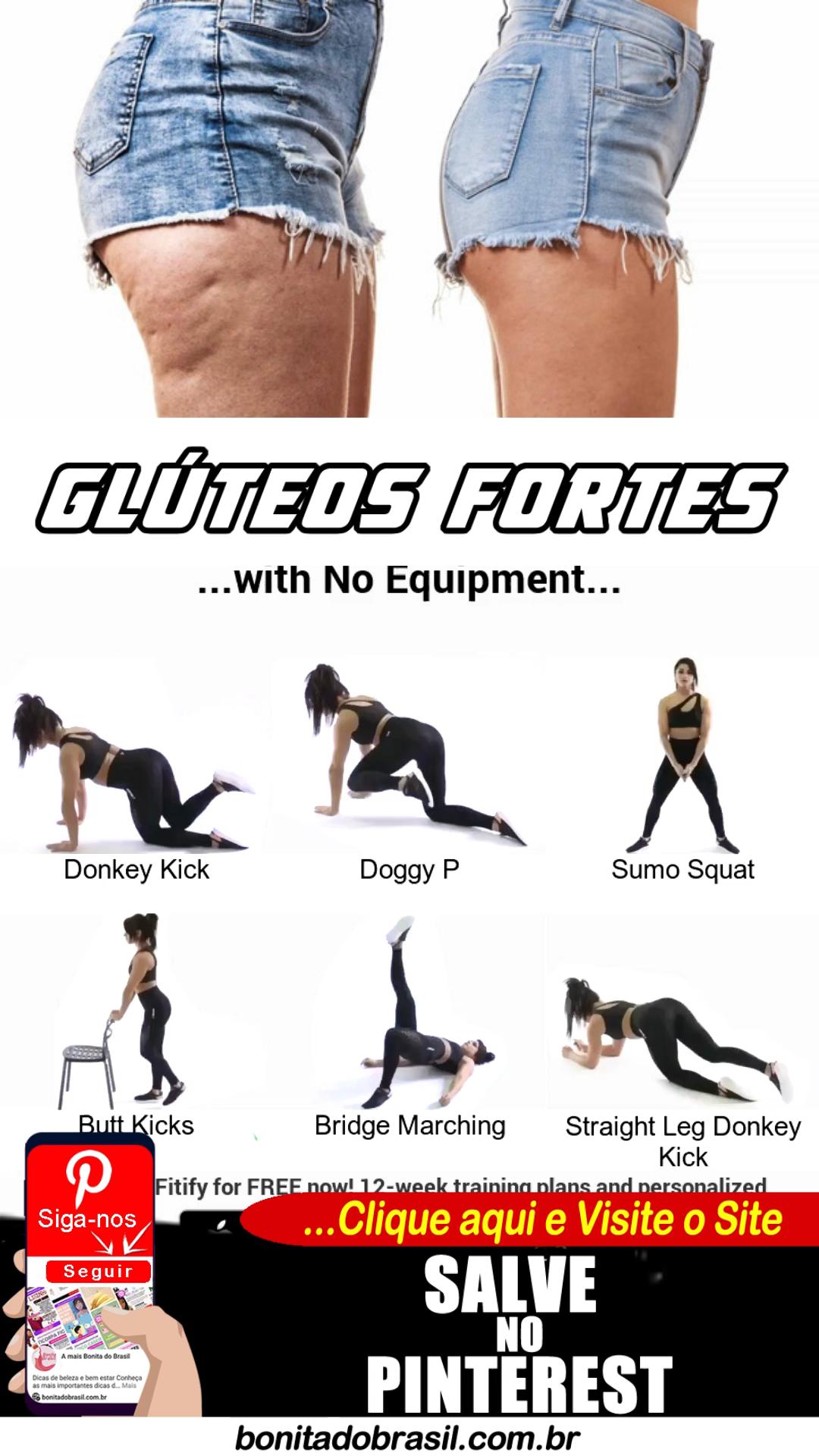 Exercícios para Levantar Glúteos Rapidamente. CLIQ