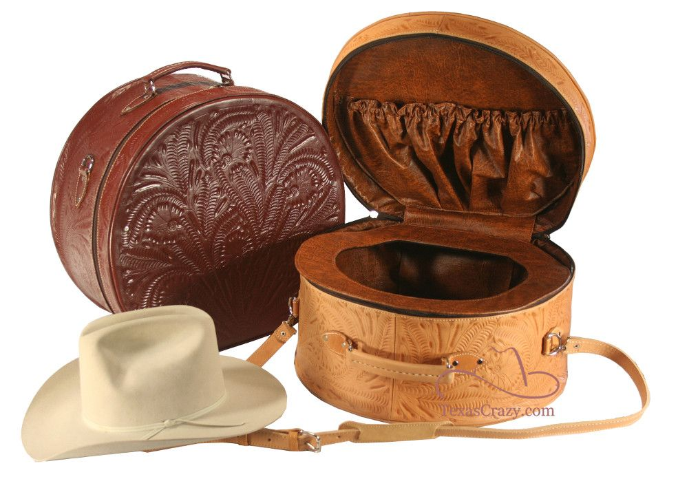 Shop Tooled Leather Cowboy Hat Box Western Luggage Store Leather Cowboy Hats Leather Hats Cowboy Hats