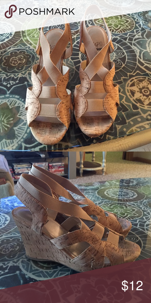 Wedges. Tan wedges. Excellent condition! Shoes Wedges
