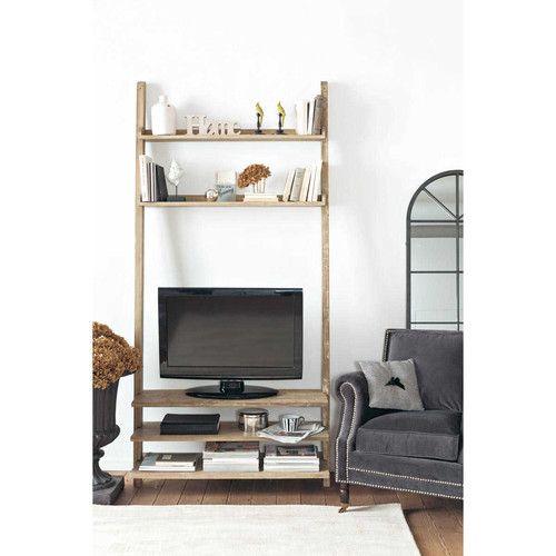 Étagère TV en bois recyclé L 110 cm Appart Amaury Pinterest