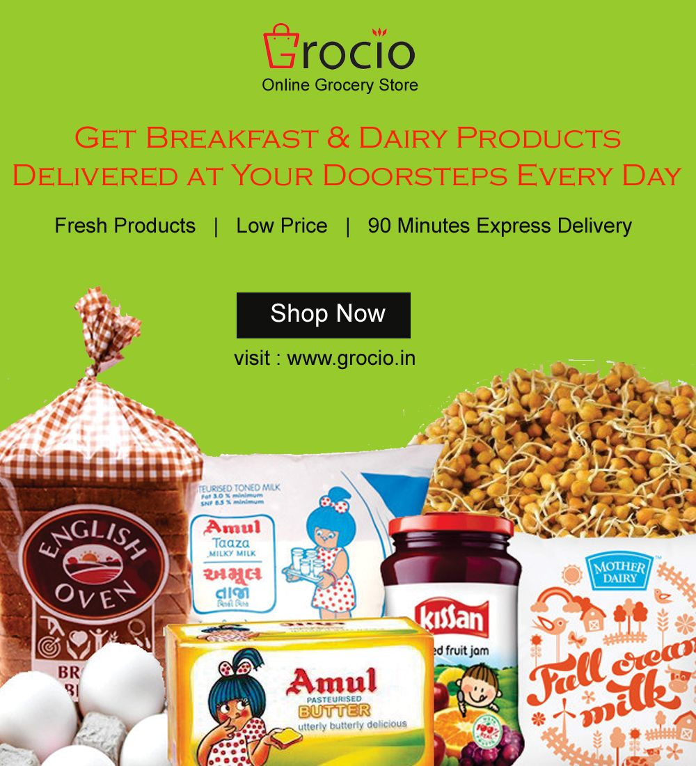 Get Breakfast & Dairy Products Delivered At Your Doorsteps