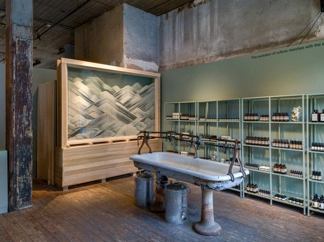 Aesop announce the opening of their latest shop installation as they partner with The Invisible Dog Art Center in Brooklyn and architect Frida Escobedo.