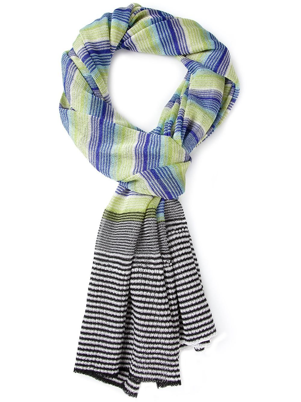 Missoni Striped Crochet Scarf - Parisi - Farfetch.com