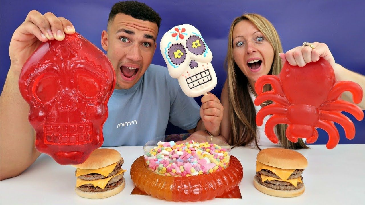 Real Food Vs Gummy Food Gross Giant Candy Challenge