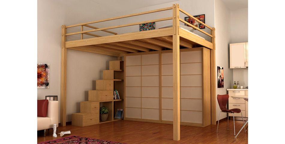 cinius lit mezzanine yen une nouvelle fa on de vivre vos espaces une pi ce en plus bouli. Black Bedroom Furniture Sets. Home Design Ideas