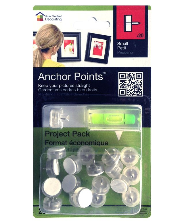 About Anchor Points™ | Under The Roof Decorating  -  Best thing I've seen for hanging pix straight --h--