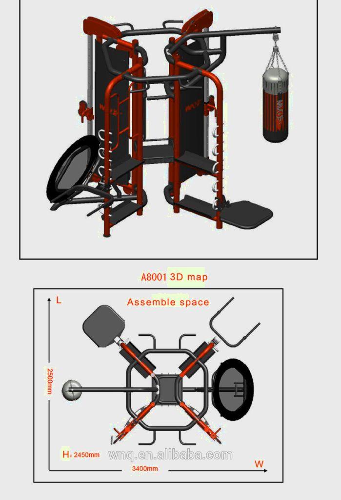 Ilustraci n de la m quina de ejercicios de boxeo estilo for Maquinas para gym