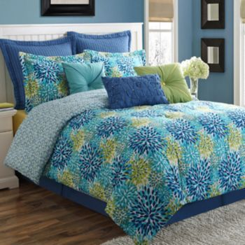 Fiesta Calypso Reversible Comforter Set Judy\u0027s Room Bedding - Bobs Furniture Bedroom Sets