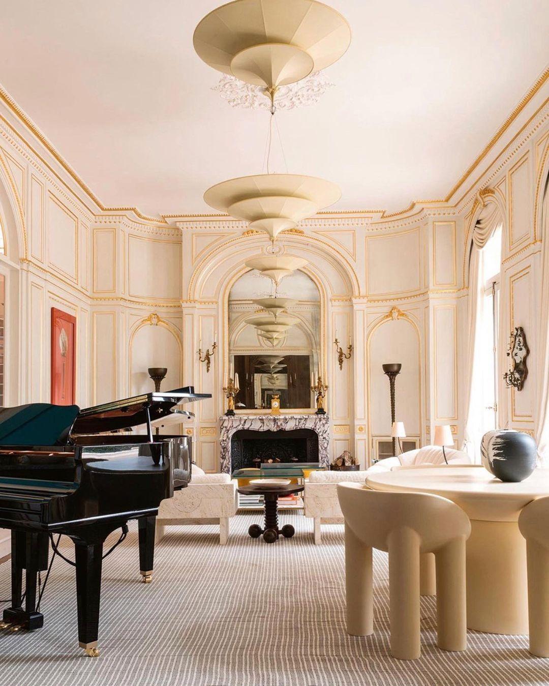 "Nicole Fuller on Instagram ""Magnifique Beaux Arts mansion in Paris's 16th arrondissement ✨ Designed by bosstudio 📸 markc oflaherty beauxarts…"""