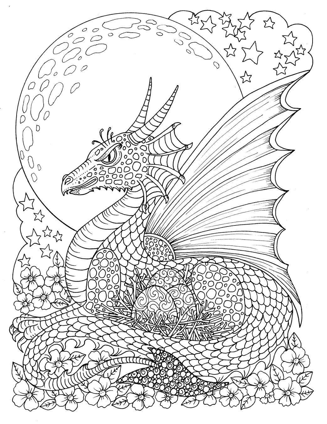 Pin On Dragon Coloring Pages