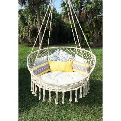 Sensational Outdoor Bliss Hammocks Large Rope Hammock Chair Bhc 413 Pabps2019 Chair Design Images Pabps2019Com